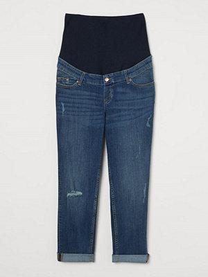 H&M MAMA Boyfriend Ankle Jeans blå