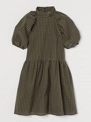 H&M Jacquardvävd klänning grön