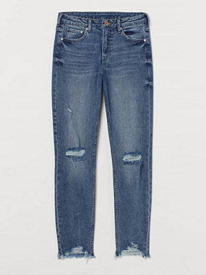 H&M Girlfriend Regular Jeans blå