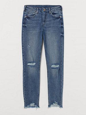 Jeans - H&M Girlfriend Regular Jeans blå