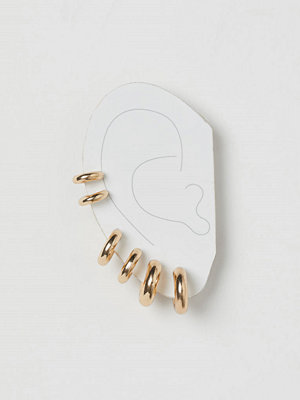 H&M 3 par runda örhängen guld
