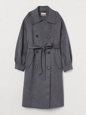 H&M Oversized kappa i ull grå