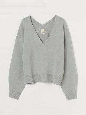 H&M Stickad ulltröja turkos