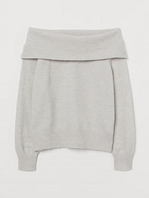 H&M Off shoulder-tröja brun