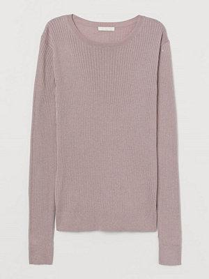 H&M Ribbstickad tröja rosa