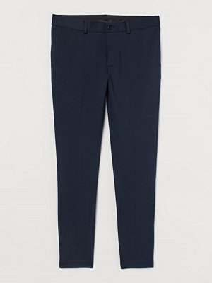 H&M Kostymbyxa Slim Fit blå
