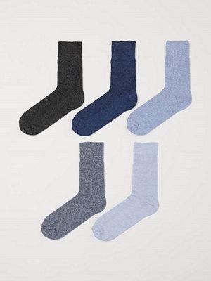 H&M 5-pack strumpor blå