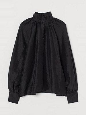 H&M Satinblus svart