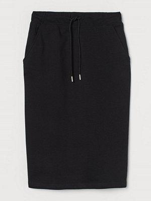 H&M Sweatshirtkjol i bomull svart