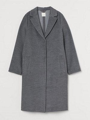 H&M Knälång kappa grå