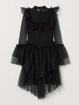 H&M Spetsklänning med tyllkjol svart