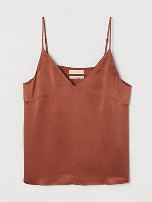Linnen - H&M V-ringat linne i siden orange