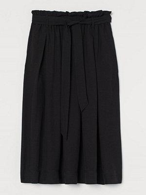 Kjolar - H&M Paper bag-kjol i lyocellmix svart