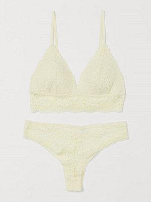 H&M Underklädesset i spets gul