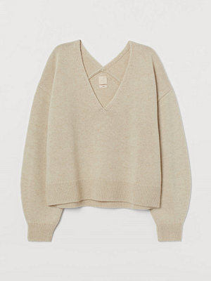 H&M Stickad ulltröja beige
