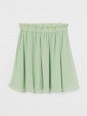 H&M Chiffongkjol grön