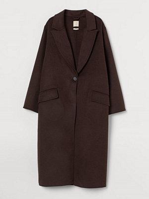 H&M Oversized kappa i ullmix brun