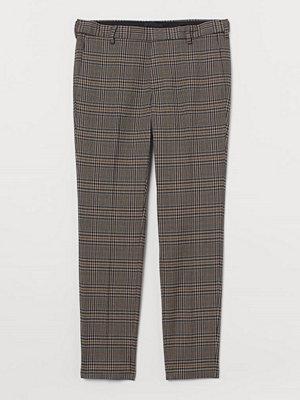 H&M Kostymbyxa Skinny Fit brun