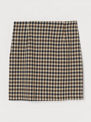 H&M Kort kjol beige