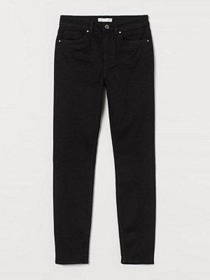 H&M Skinny Regular Jeans svart