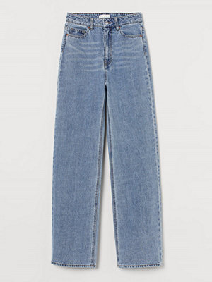 H&M Wide High Jeans blå