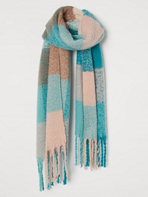 Halsdukar & scarves - H&M Borstad scarf turkos