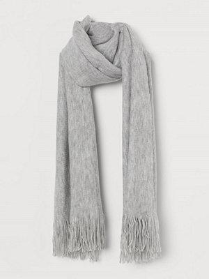 H&M Halsduk med fransar grå