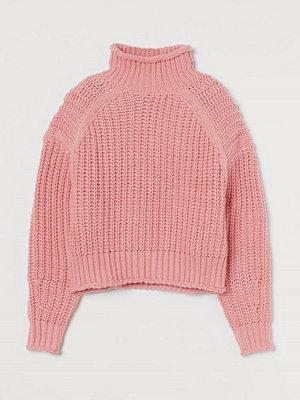 H&M Ribbstickad polotröja rosa