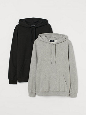 H&M 2-pack huvtröja Relaxed Fit grå