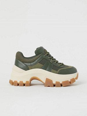H&M Chunky sneakers grön
