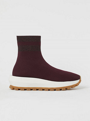 H&M Formstickade sneakers röd