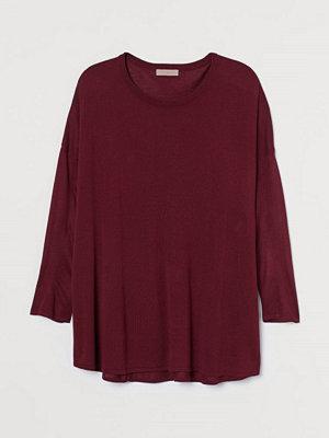 H&M H & M+ Finstickad tröja röd