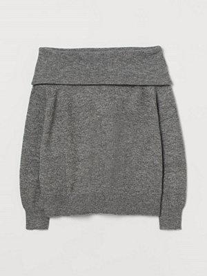 H&M H & M+ Off shoulder-tröja grå