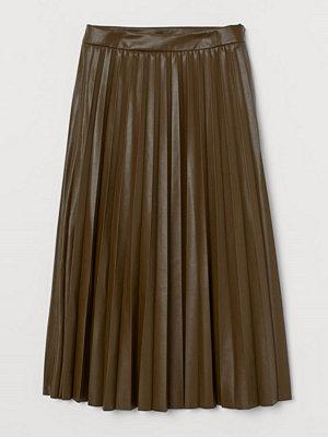 Kjolar - H&M Kjol i fuskläder grön