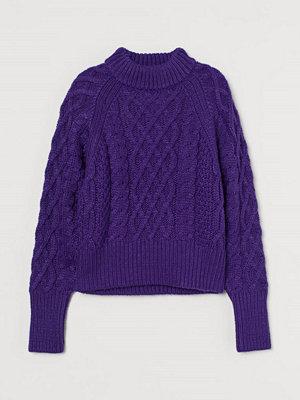 H&M Kabelstickad tröja purple