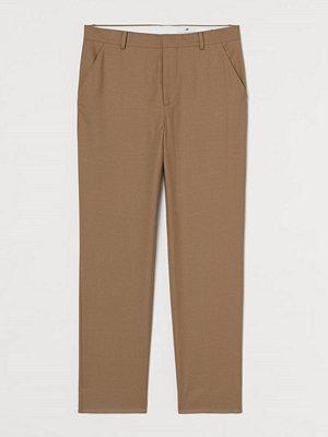H&M Dressad byxa Regular Fit beige