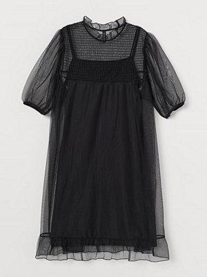 H&M H & M+ Meshklänning svart