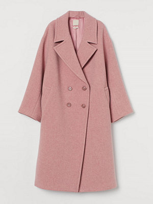 H&M Twillkappa i ullmix rosa