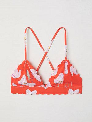 Bikini - H&M Trekantsbikini-bh röd