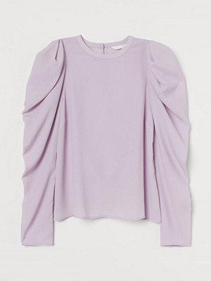H&M Blus med puffärm lila