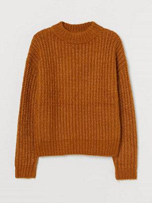 H&M Stickad tröja i ullmix gul