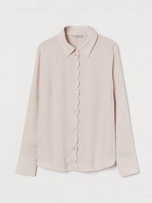 H&M Blus med uddkant rosa