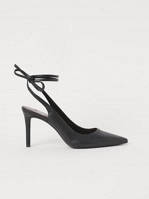 H&M Pumps med knytband svart