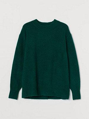 H&M Finstickad tröja grön