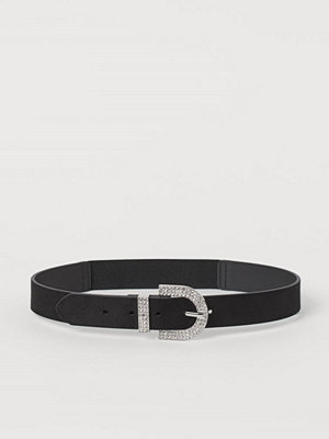 Bälten & skärp - H&M Midjeskärp med strass svart