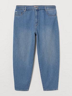 H&M H & M+ Barrel Leg High Jeans blå