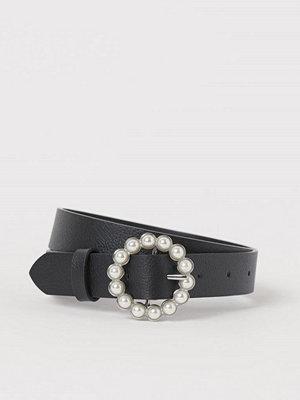 Bälten & skärp - H&M Skärp med pärlspänne svart