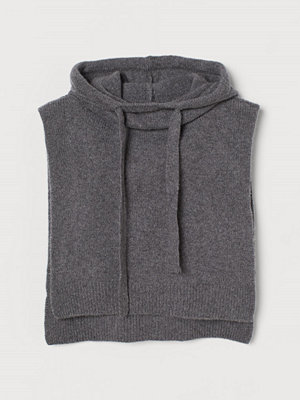 Halsdukar & scarves - H&M Stickad huva i kashmir grå