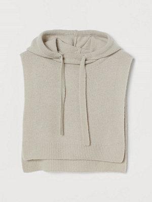 Halsdukar & scarves - H&M Stickad huva i kashmir brun
