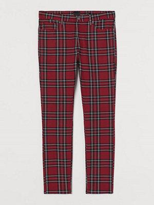H&M Twillbyxa Skinny Fit röd